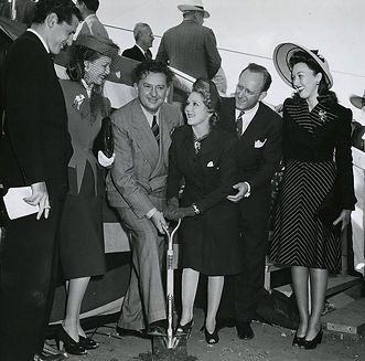 MAry Pickford breaks ground for the MPTF home.