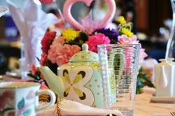 Heart Themed Tea Centerpiece