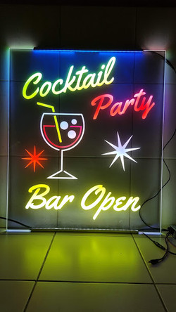 Edge Lit Cocktail Bar