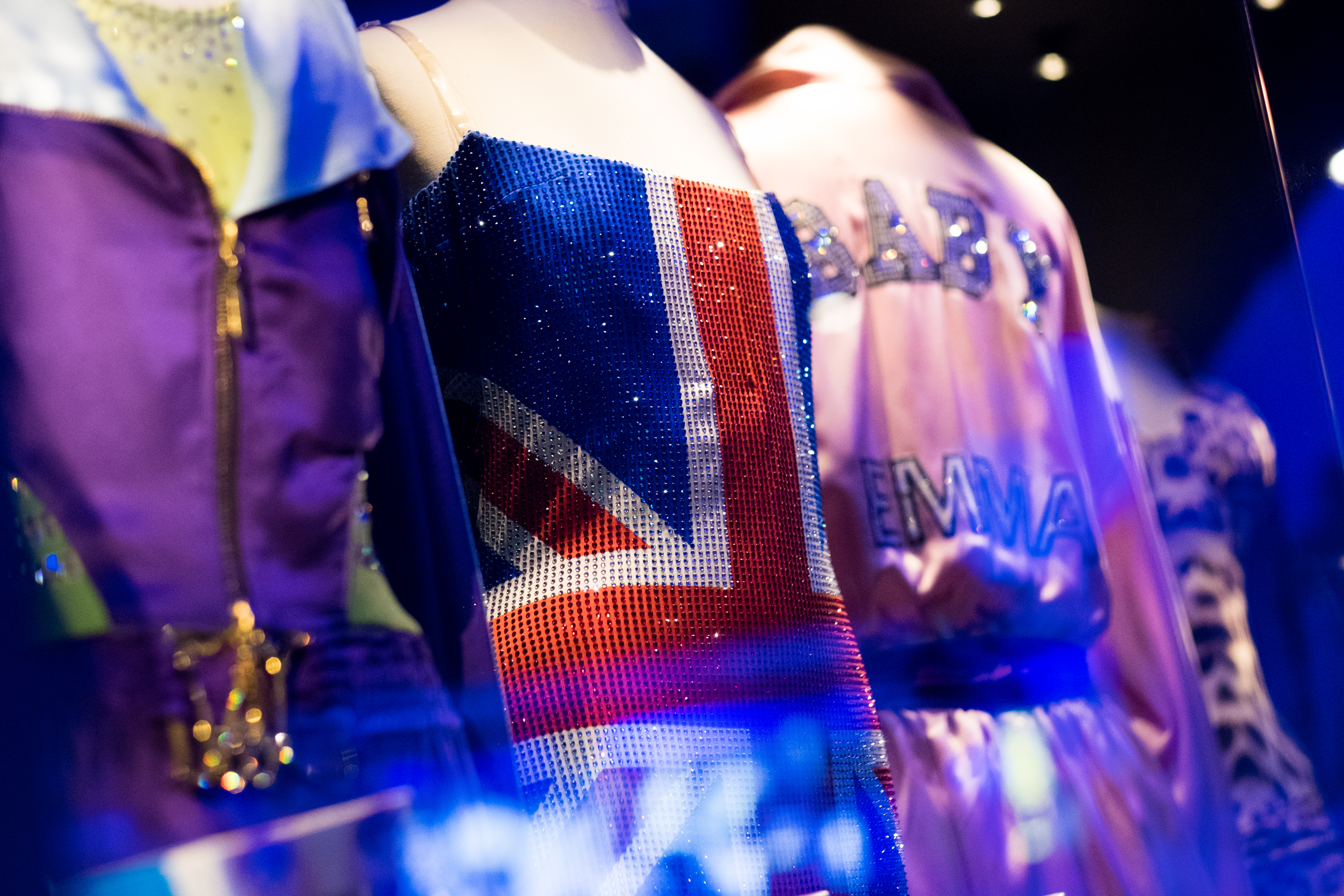 Spice Girls- Example of outfits on display at the BME