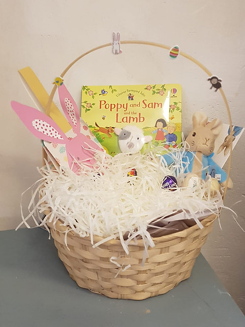 Easter Book Hamper with Book, Toy and mini eggs