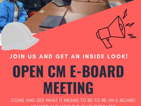 CM Club Open E-Board Meeting