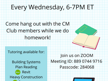 CM Club Homework Hangout