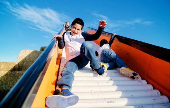 """Giant """"Orange Crush"""" Roller Slide"""