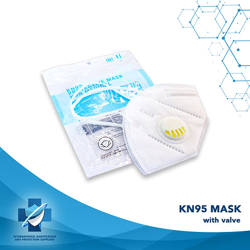 KN95 Face Mask With Breathing Valve | FFP2 Face Mask | Respirator | 1 Piece