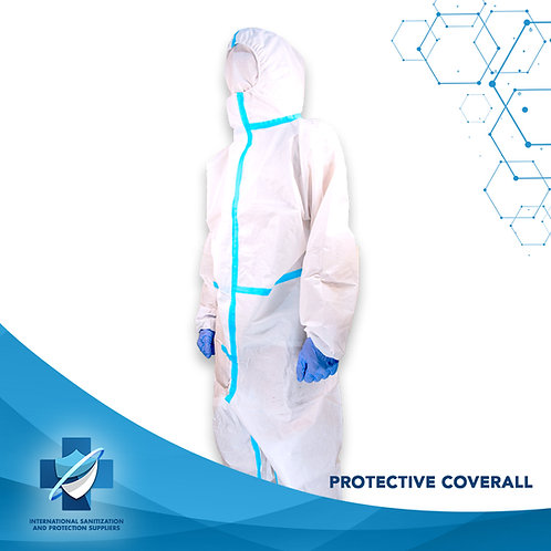 High-Quality White Protective Coveralls | Hazmat Suit Protection Clothing | Safe