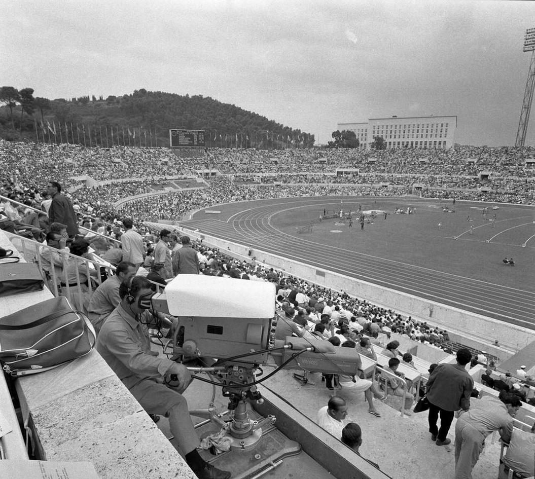 Lo stadio Olimpico durante lo svolgimento dei giochi.