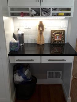 Kitchen desk after LED