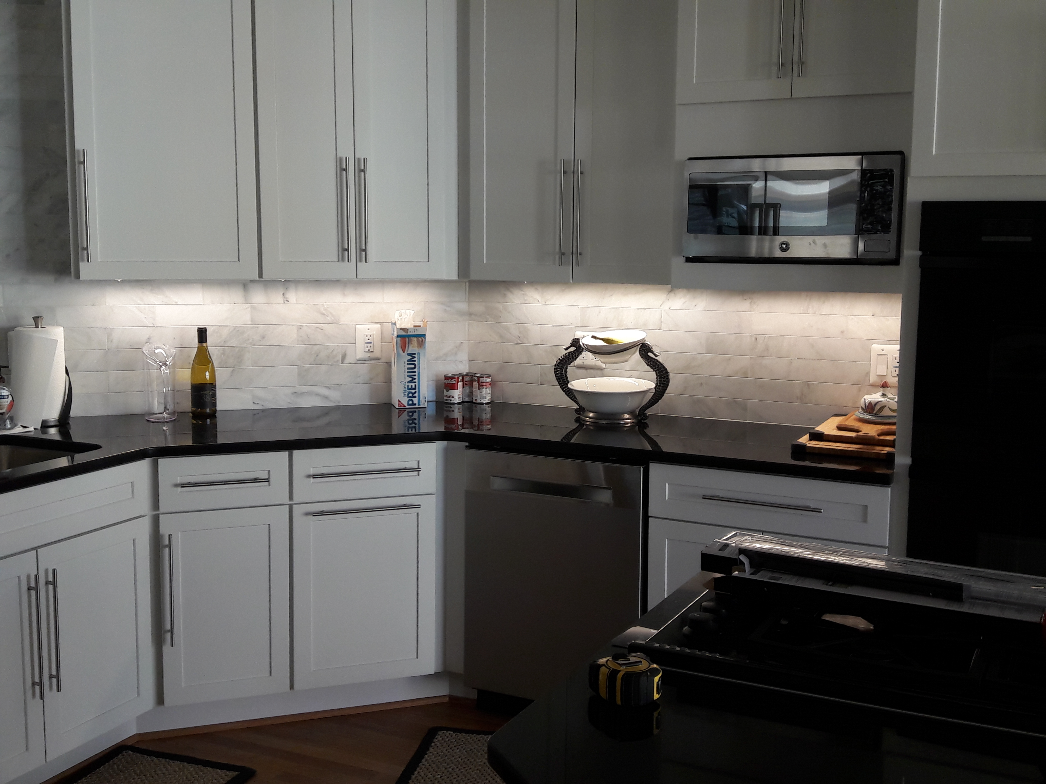 Kitchen counter LED after