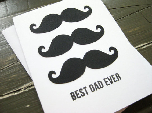 Best Dad Ever With Stacked Mustaches Handmade Fathers Day