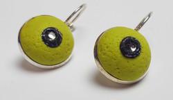 Wasabi green earrings