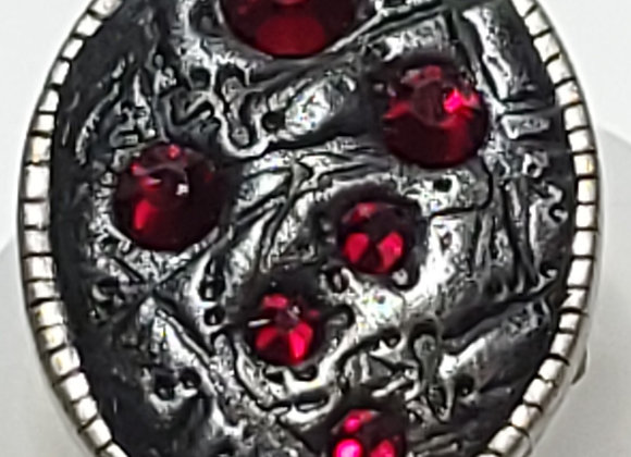 Red Crystal Sparkle ring