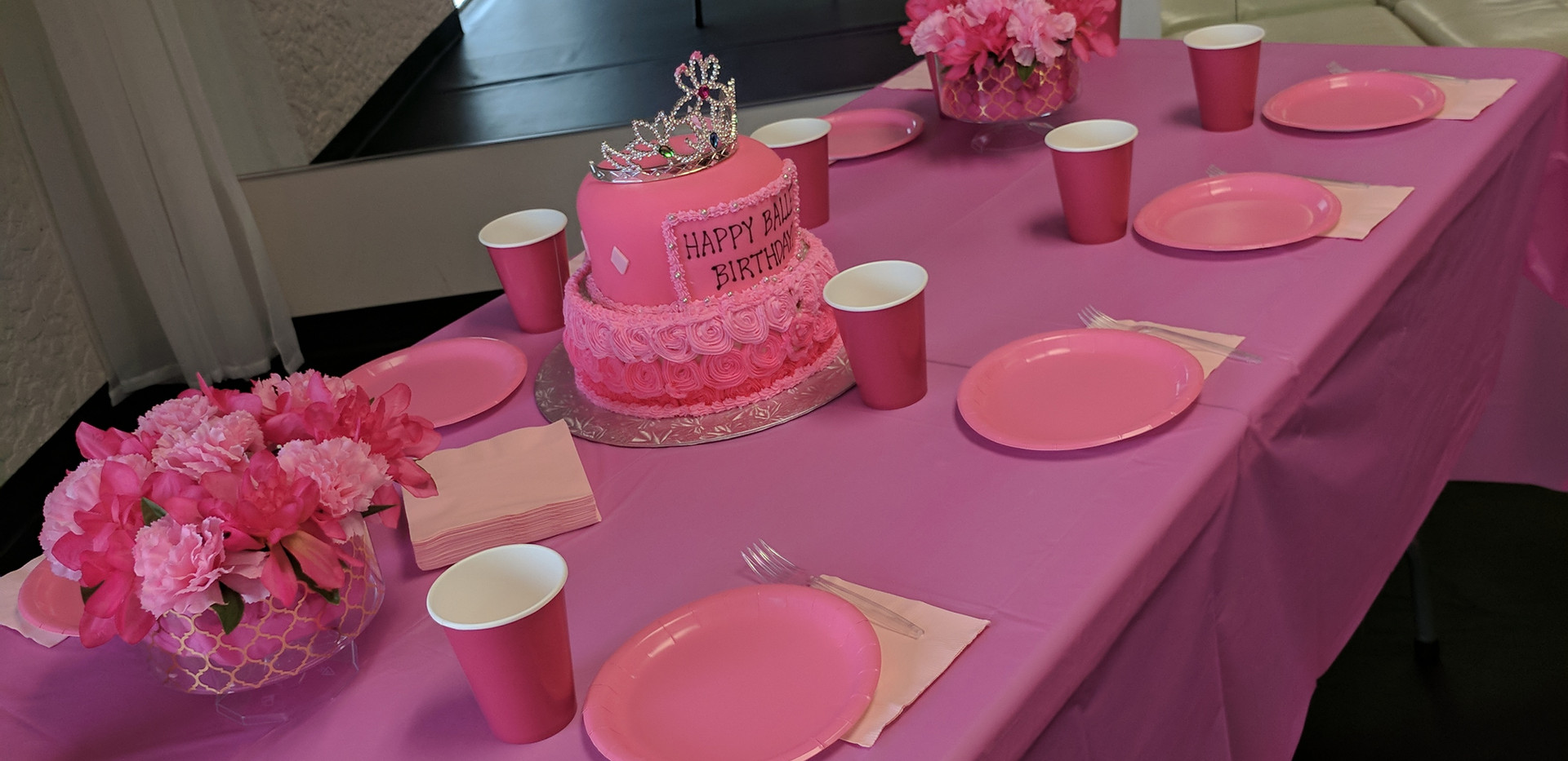 Princess Ballet Cake Table
