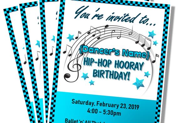 Hip Hop Hooray Custom Invitations
