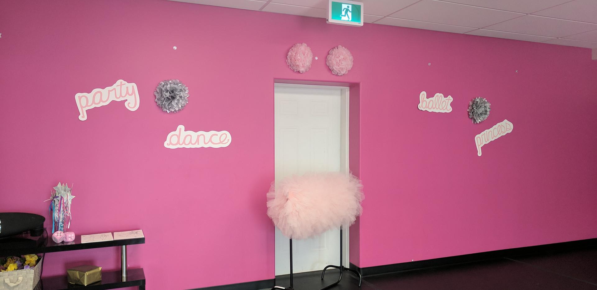 Princess Ballet Pink Wall