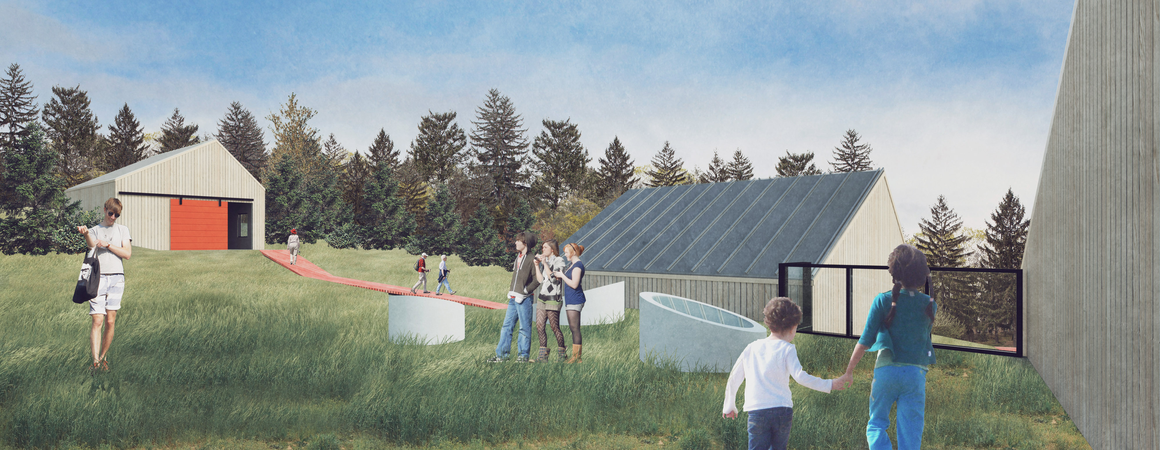 Green Roof Over Learning Space