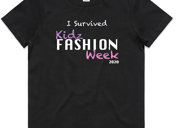 """""""I survived Kidz Fashion Week"""" T-Shirt - ENTER THE COMPETITION"""