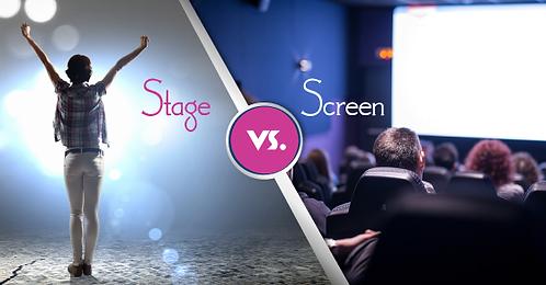 Stage Vs Screen Acting Workshop - Deposit