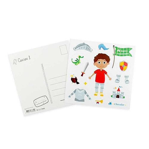 🇫🇷 Carte stickers anniversaire pirate  - Agent Paper