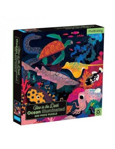 Puzzle phosphorescent océan 500 pièces - Mudpuppy