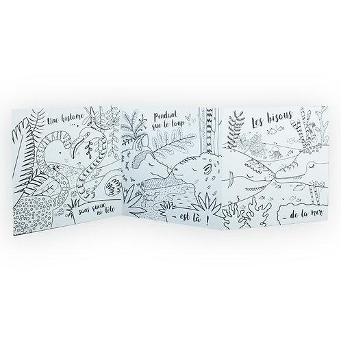 🇫🇷 Carte à colorier accordéon  - Agent Paper