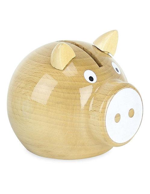 🇫🇷 Tirelire cochon bois - Vilac