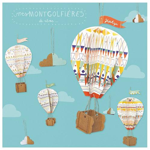 🇫🇷 Kit créatif Montgolfières - Pirouette Cacahouhète