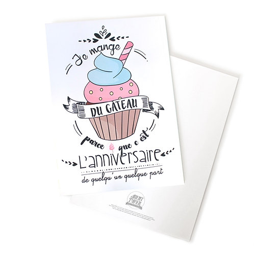 🇫🇷 Carte / affiche gâteau anniversaire - Agent Paper