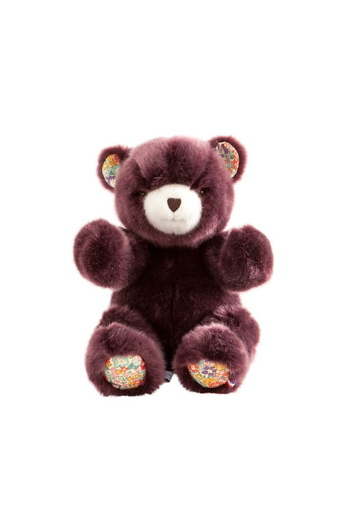 🇫🇷 Ours Robert – Prune liberty 30 cm - Pamplemousse peluches