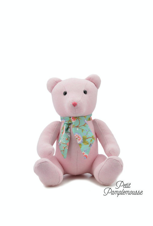 🇫🇷 Ours Rose 30cm - Pamplemousse peluches
