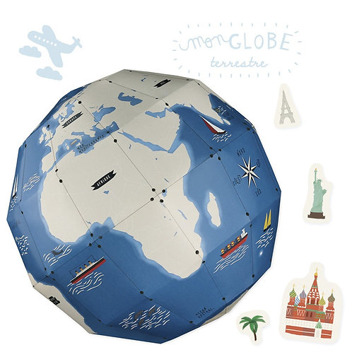 🇫🇷 Kit créatif Globe terrestre - Pirouette cacahouète