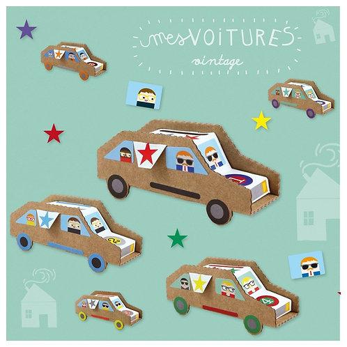 🇫🇷 Kit créatif Voitures vintage - Pirouette cacahouète