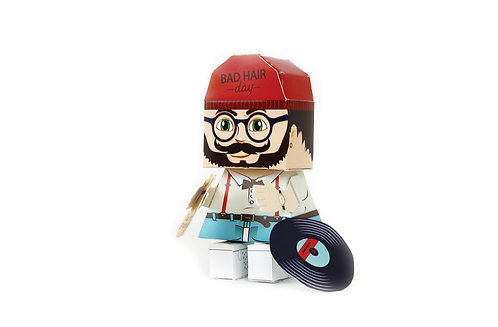 🇫🇷 Papertoy hipster - Agent Paper