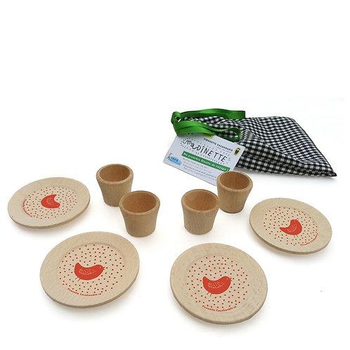🇫🇷 Dînette design en bois - Pirouette cacahouète
