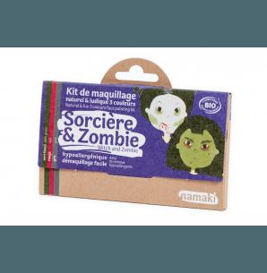 🇪🇺 Kit maquillage bio 3 couleurs Sorcière et Zombie - Namaki