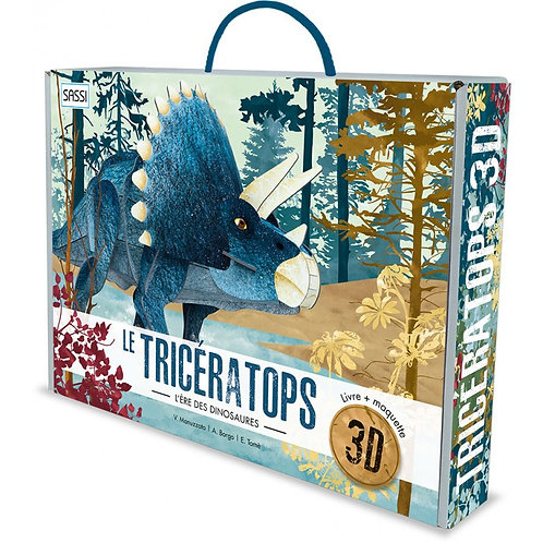 Le tricératops 3D. L'ère des dinosaures - Sassi