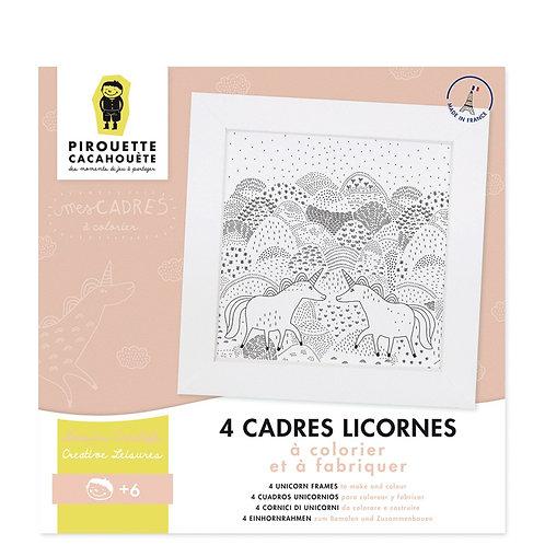 🇫🇷 Kit créatif mes Cadres Licornes à colorier - Pirouette cacahouète