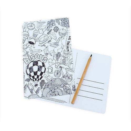 🇫🇷 Carte à colorier psyché - Agent Paper