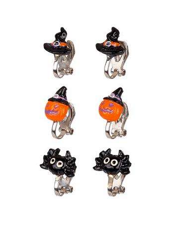 Boucles d'oreille à clip Halloween (lot 3 paires)