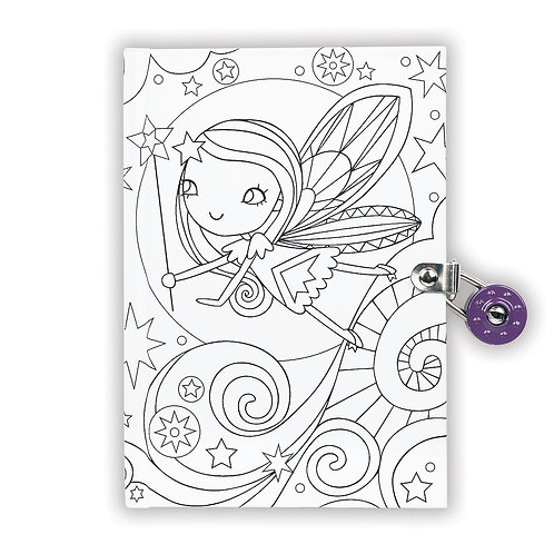 Journal intime à colorier fée - Mudpuppy