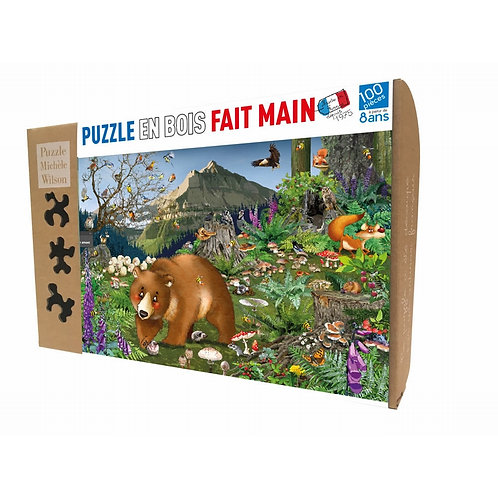 🇫🇷 Puzzle bois 100p En montagne - Michèle Wilson