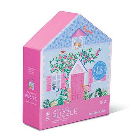 Puzzle maison 24 pièces double face - Crocodile Creek
