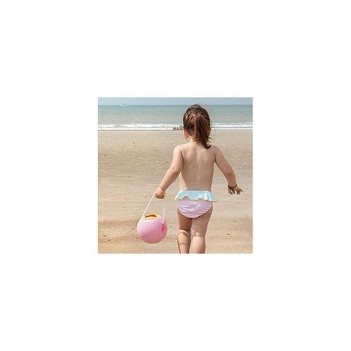 Seau de plage Mini ballo rose - Quut