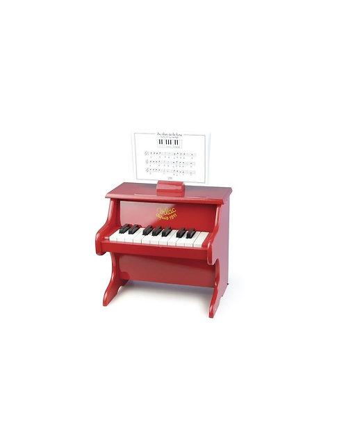 Piano rouge 18 touches avec partitions - Vilac