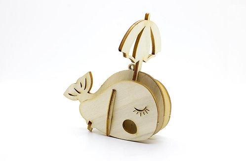🇫🇷 Les p'tits bidules en bois Baleine - Agent Paper