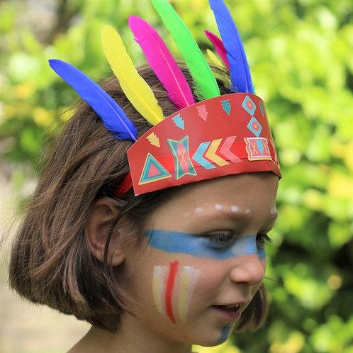 🇫🇷 Kit créatif : Les indiens sioux - Atelier imaginaire