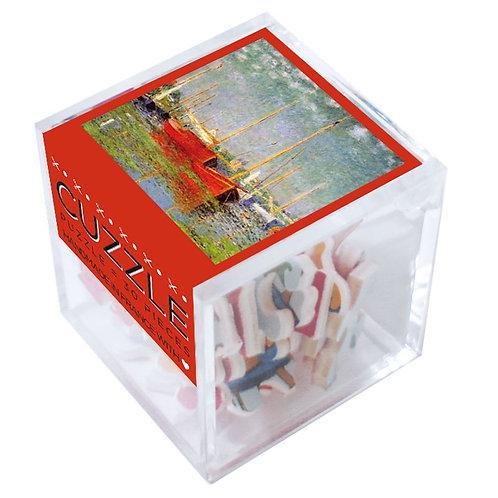 🇫🇷 Puzzle en bois 30p Bâteaux rouges Monet - Michèle Wilson