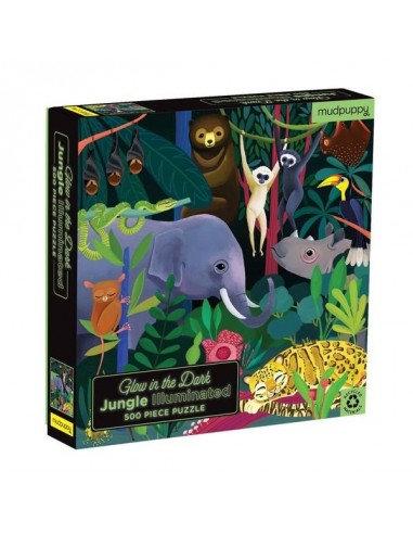 Puzzle phosphorescent jungle 500 pièces - Mudpuppy