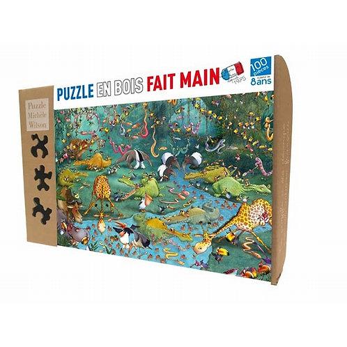 🇫🇷 Puzzle  bois 100p Crocos - Michèle Wilson