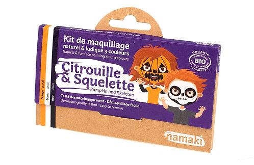 🇪🇺 Kit maquillage bio 3 couleurs Citrouille et Squelette - Namaki